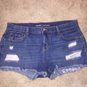 Old Navy boyfriend fit size 12 distressed shorts